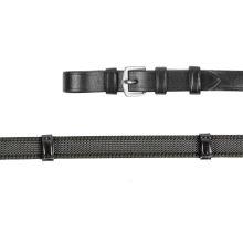 Gummierte Zügel X-LINE ANTI-SLIP schwarz